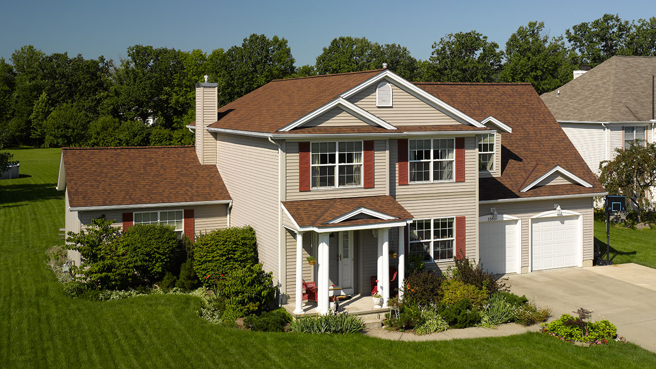 Burnt Sienna Colored Roof American Standard Roofing Houston